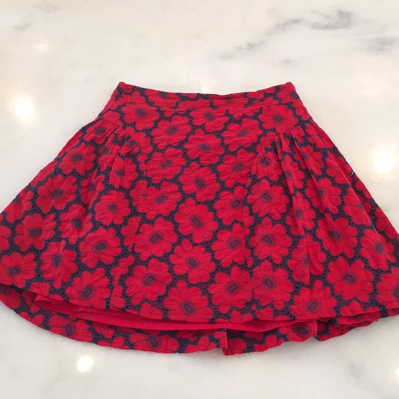 lavand Dresses & Skirts - NWT Lavand Red & Navy floral skirt